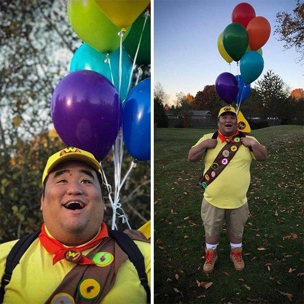 """14. Рассел, персонаж мультфильма """"Вверх"""". Немного подрос Хэллоуин дети, Хэллоуин костюм, Хэллоуин. костюм, маскарадные костюмы, маскарадный костюм, наряд на хеллоуин, праздник, хэллоуин"""