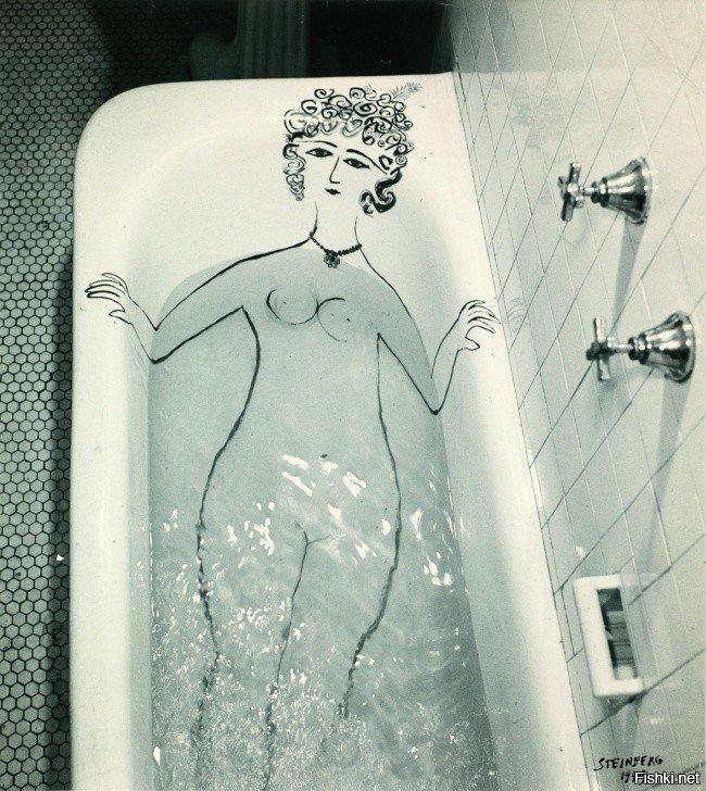 Прикольная картинка с девушкой в ванне, днем