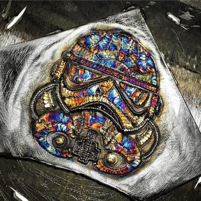 """Штурмовик из """"Звёздных войн"""" интересное, искусство, картины, сварка, сварочный шов, фото, шов"""