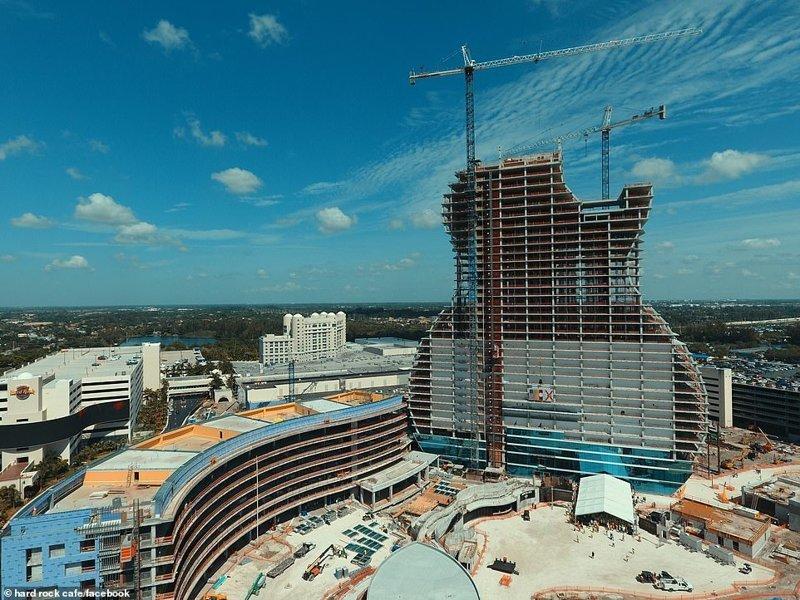 Во Флориде строят отель в виде рок-гитары hard rock, ynews, Отель, гитара, необычное здание, первый в мире, сша, флорида