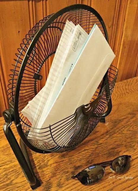9. Органайзер для хранения вентилятор, из старых вещей, интересно, очумелые ручки, своими руками, утилизация, фото