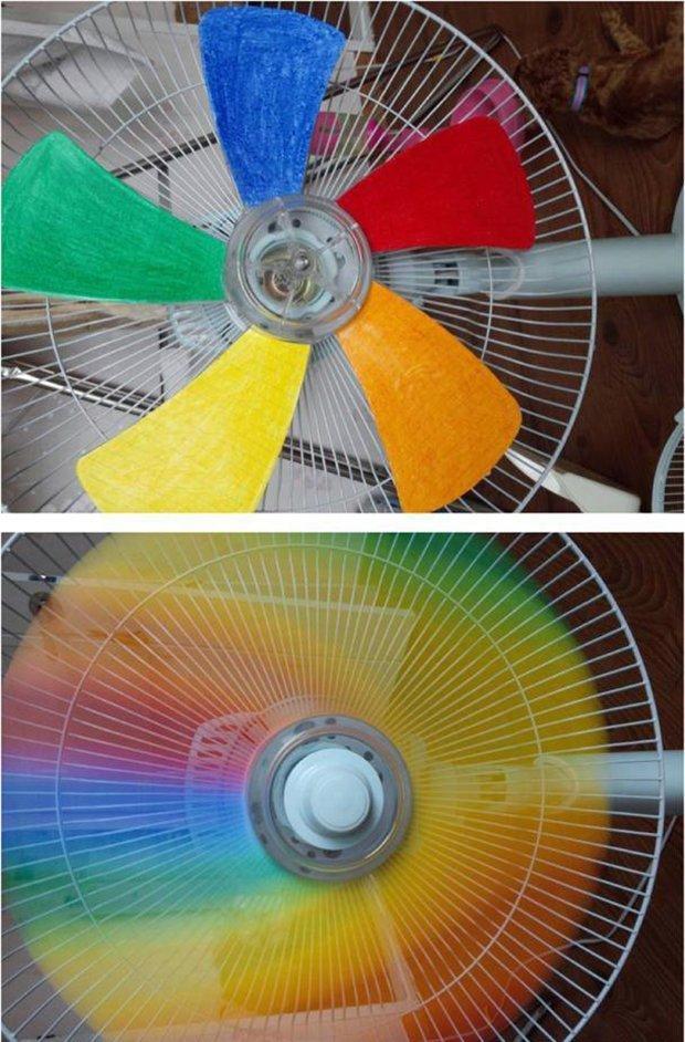 2. Надоел скучный вентилятор? Добавьте красок! вентилятор, из старых вещей, интересно, очумелые ручки, своими руками, утилизация, фото
