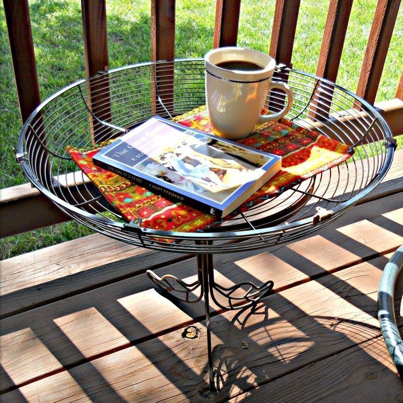 8. Даже стол можно сделать вентилятор, из старых вещей, интересно, очумелые ручки, своими руками, утилизация, фото