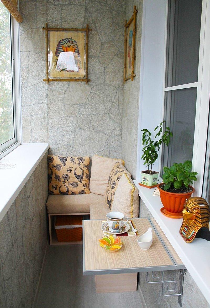Откидные столики для балкона - невероятно удобная вещь Фабрика идей, балкон, дизайн, идеи, маленький, экономия пространства