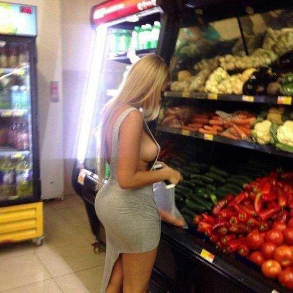 14. девушки, красиво, супермаркет, фото