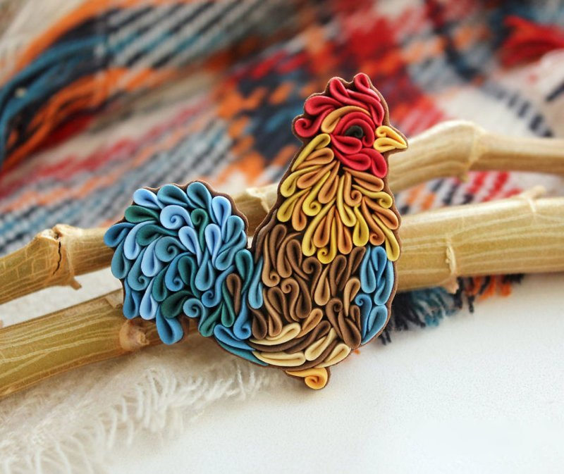 Русская мастерица создает чудесные изделия из глины в уникальной технике искусство, красиво, креатив, лепка, полимерная глина, рукоделие, творчество, украшения