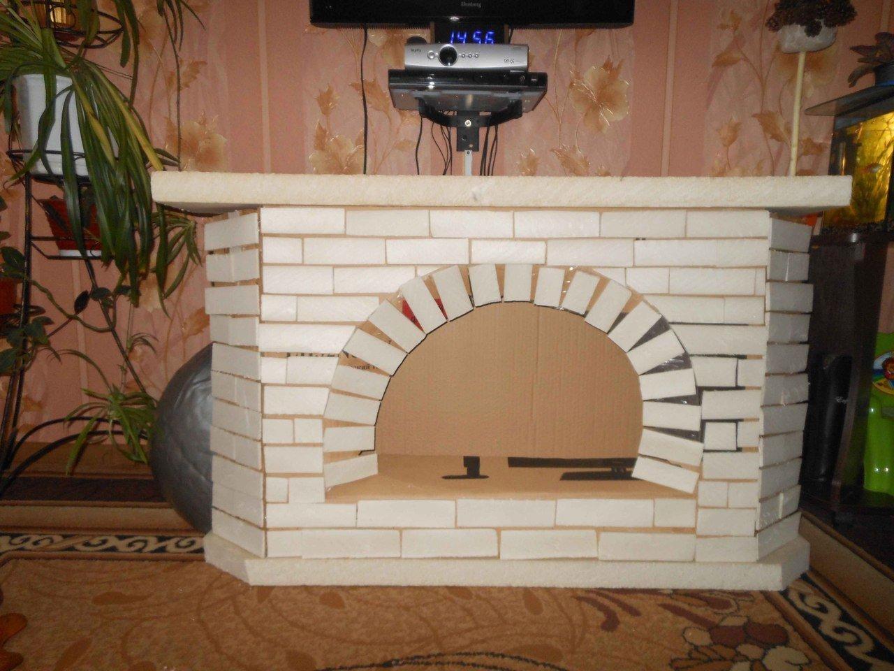 декоративный камин своими руками фото из картона углегорске