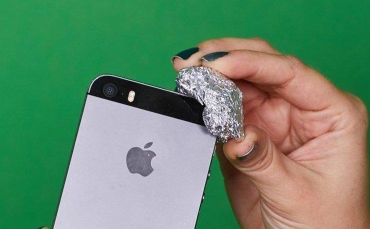 4. Есть люди, которые любят стилусы алюминиевая фольга, в быту, интересно, полезно, фольга, фото, хитрости