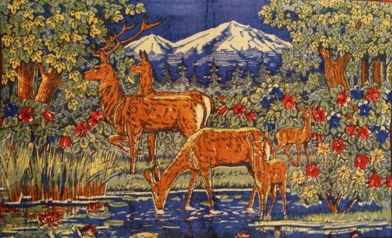 картинки на ковре олень