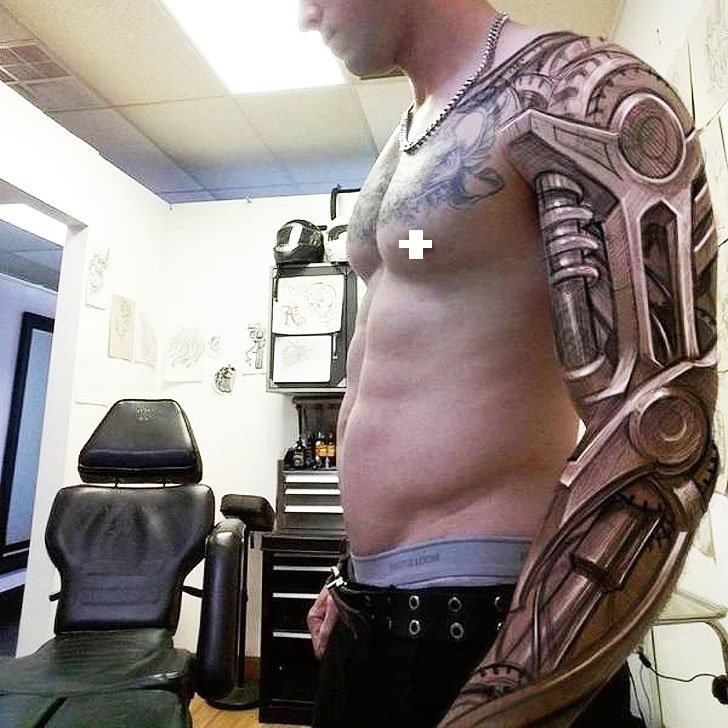 20. 3d illusion, tattoes, обман зрения, оптическая  иллюзия, реалистичность, тату, тату 3D, татуировки