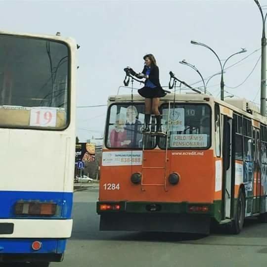 Просто водитель троллейбуса в Кишинёве