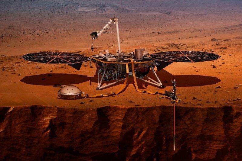 Иллюстрация посадочного модуля InSight InSight, nasa, ynews, космос, марс, новости, фотография