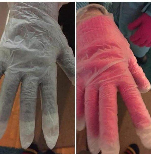 Просто резиновые перчатки для игры со снегом - и тепло, и сухо! Лайфхак, дети, крутые идеи, родители, смешно
