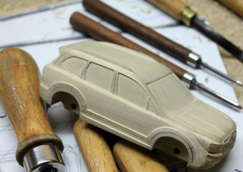 Subaru Forester в масштабе своими руками из дерева subaru, subaru forester, авто, автомобили, масштабная модель, моделизм