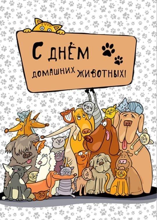 Открытки день домашних животных