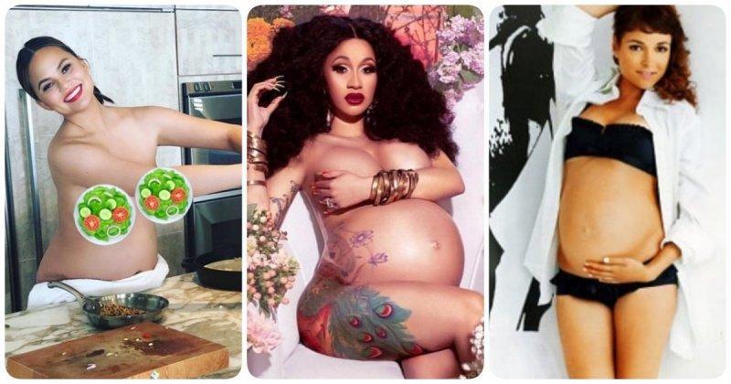 10 обнаженных беременных звезд 2018: красиво ли? беременные, голые, девушки, женщины, звезды, обнаженные, селебрити