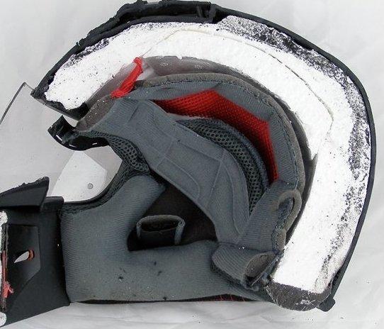 11. Мотоциклетный шлем в разрезе, вещи в разрезе, интересно, пополам, фото