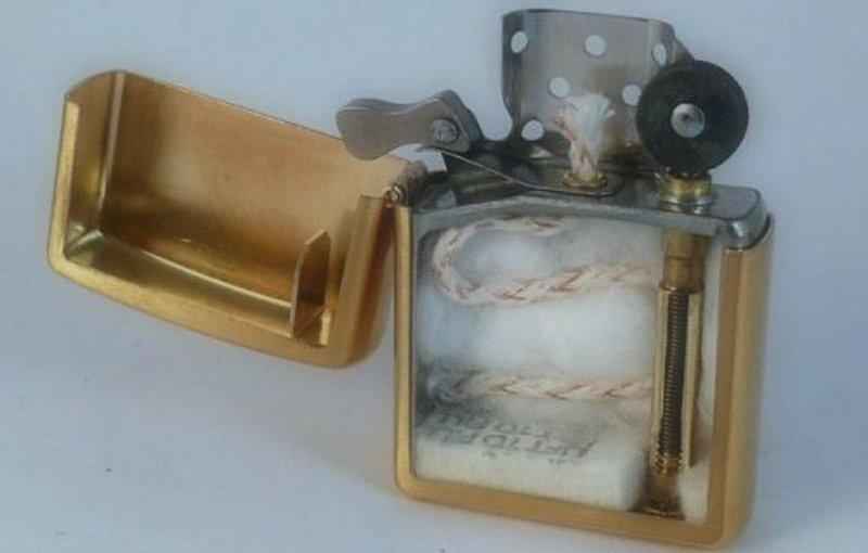 12. Зажигалка в разрезе, вещи в разрезе, интересно, пополам, фото