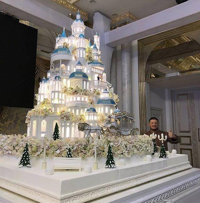 Замок с каретой дизайн, еда, искусство, красота, талант, торт, фантазия