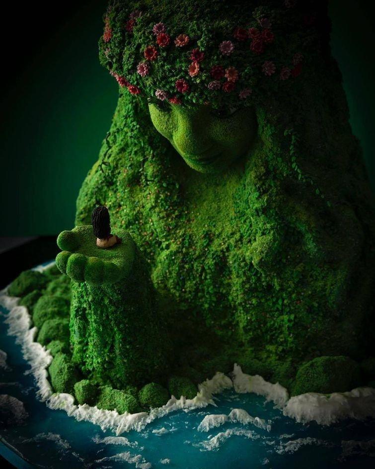 По мотивам Моаны дизайн, еда, искусство, красота, талант, торт, фантазия