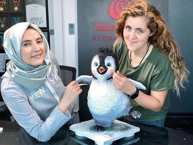 Очаровательный пингвинчик дизайн, еда, искусство, красота, талант, торт, фантазия