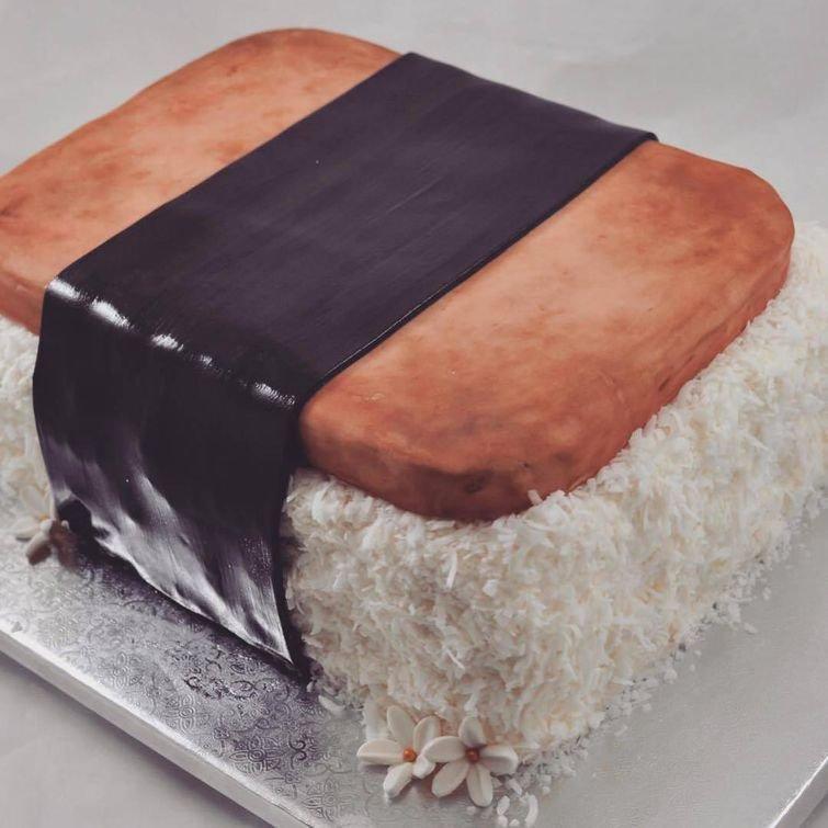 Гигантский нигири дизайн, еда, искусство, красота, талант, торт, фантазия