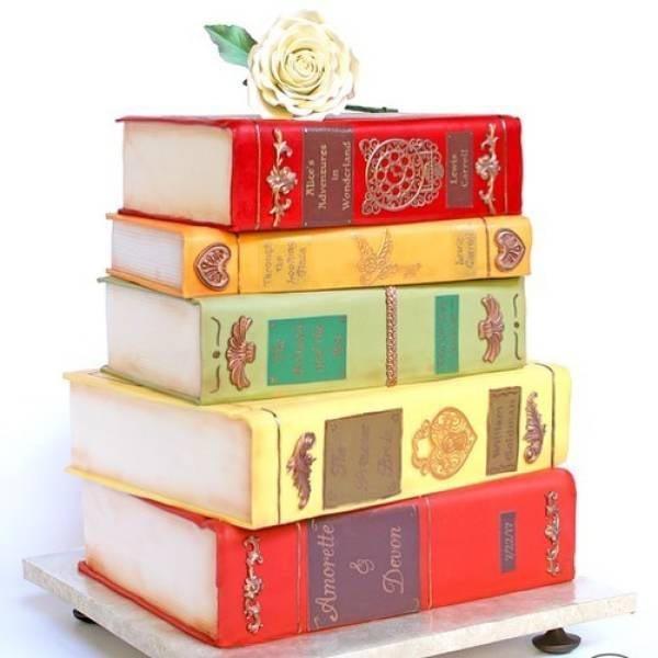 Для читающих сладкоежек дизайн, еда, искусство, красота, талант, торт, фантазия