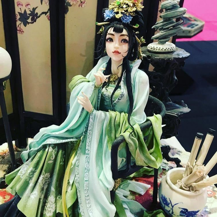 Азиатская красавица дизайн, еда, искусство, красота, талант, торт, фантазия
