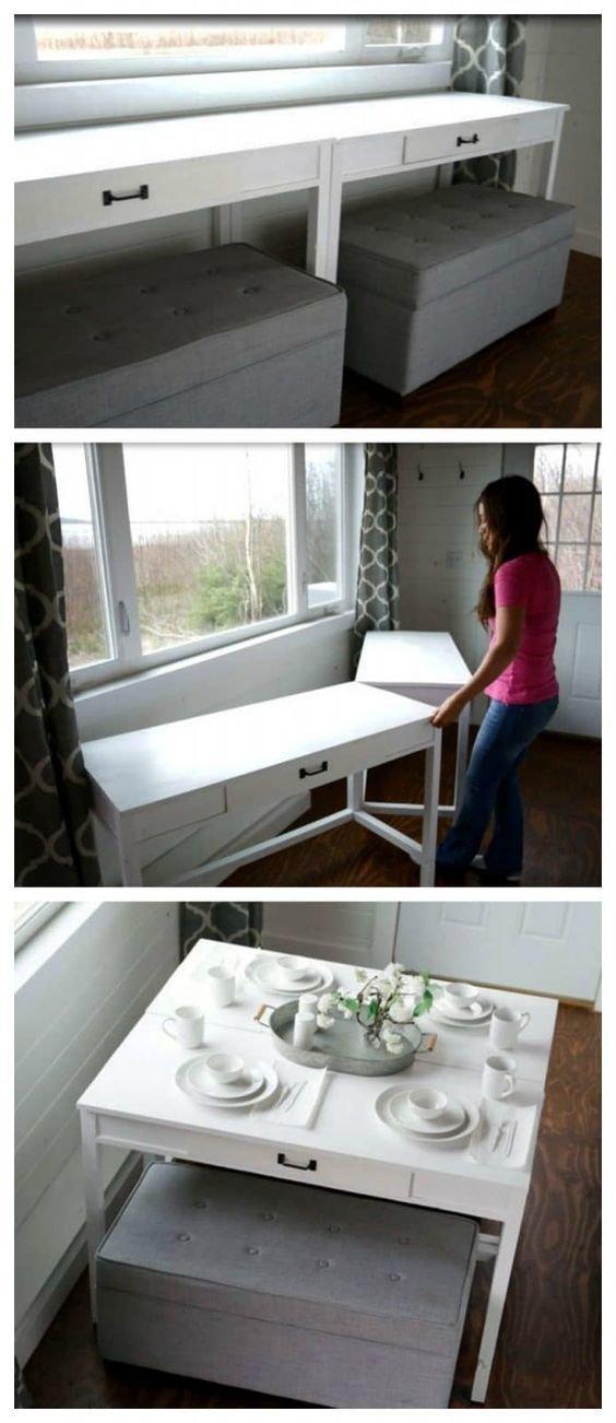 А вот для кухни идеи. Вроде и подоконник, оппа, столик Фабрика идей, гениально, дизайн, дом, идеи, ремонт