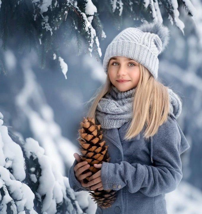 очень зимние фото с детьми этого