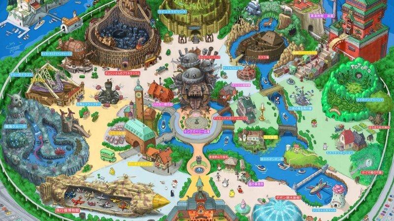 Студия Ghibli показала дизайн тематического парка по мотивам мультфильмов Миядзаки Ghibli, Японская анимация, аниме, дизайн, мультфильмы, студия, тематический парк, япония