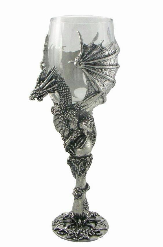 Любителям драконов и черепов Фабрика идей, бокалы, интересное, красота, креатив