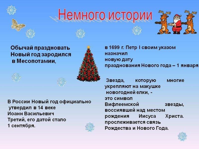 История нового года в картинках
