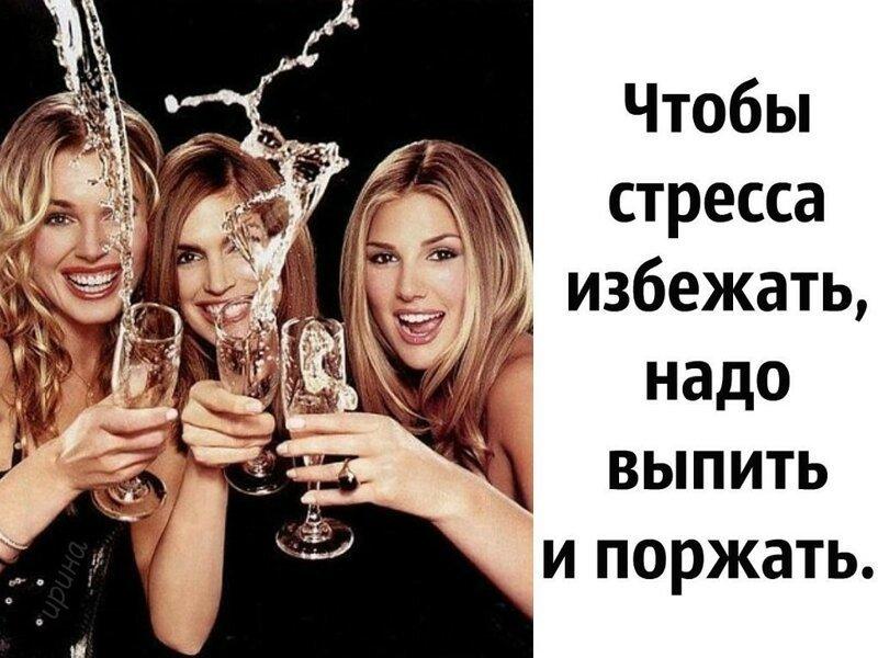 Днем, прикольные картинки о пьянки с подругой