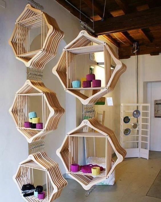 Полки и дизайнерский штучки для украшения дома Фабрика идей, вешалки, дизайн, дом, интересное, красота, креативно, предметы
