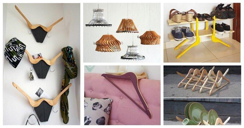 Никогда не выбрасывайте старые вешалки, ведь из них можно сделать гениальные вещи Фабрика идей, вешалки, дизайн, дом, интересное, красота, креативно, предметы
