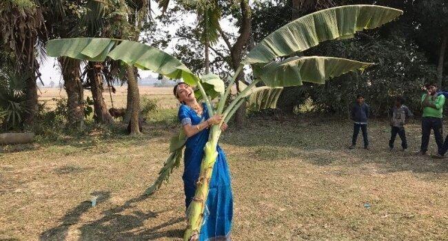 7. Свадьба с банановым деревом в Индии еда, жених и невеста, обряд, свадьба, традиции, традиции мира