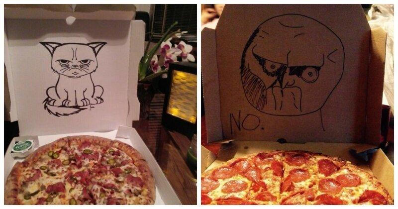 28 случаев, когда пиццерии удивили и рассмешили своих клиентов