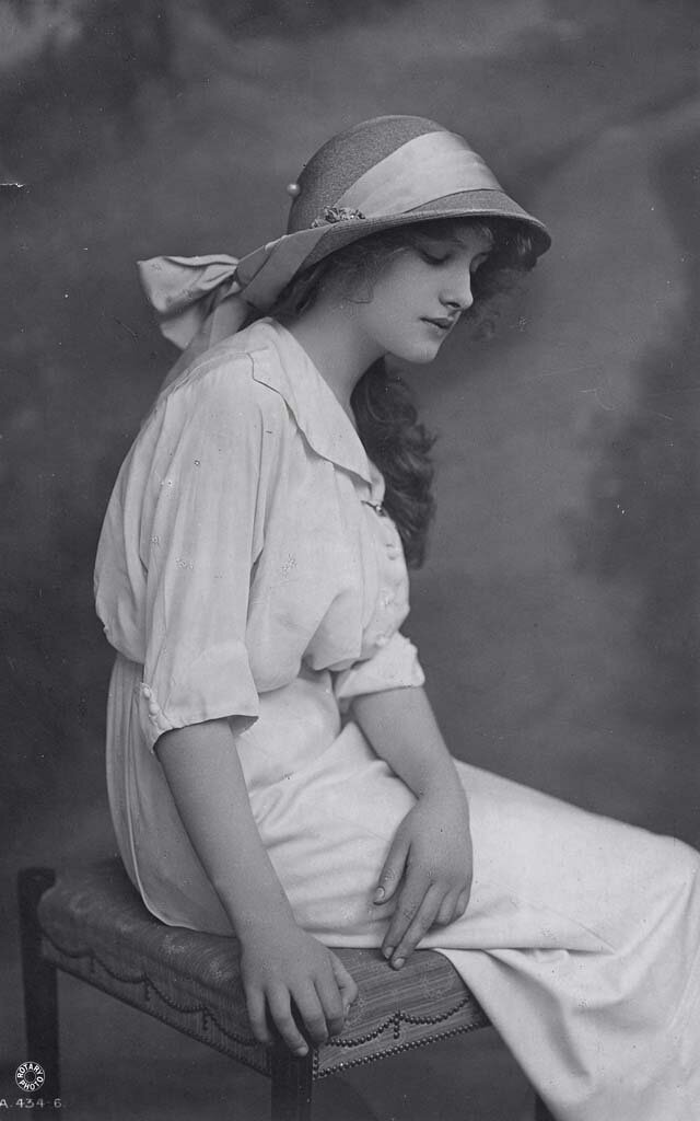 Мгновения прошлого: как выглядели юные леди 100 лет назад   девушки, история, прошлое, фото