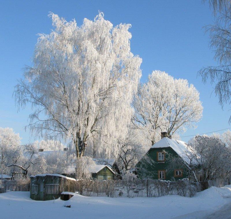 обеим фото зимних деревенских домов россии зеркальный блеск