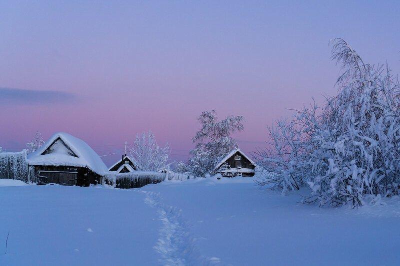Рождением, картинки зима в деревне