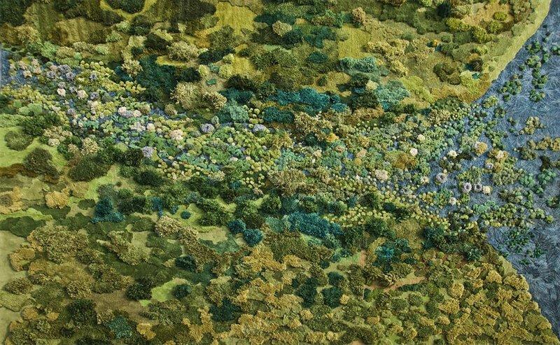 Долой типичные ковры: аргентинка мастерит ковры в виде природного ландшафта дизайн, дизайнер, дизайнеры, ковры, креатив, ландшафт, необычно, творчество