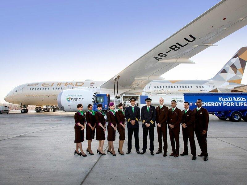 Самолет Etihad Airways совершил исторический рейс, используя биотопливо из растений