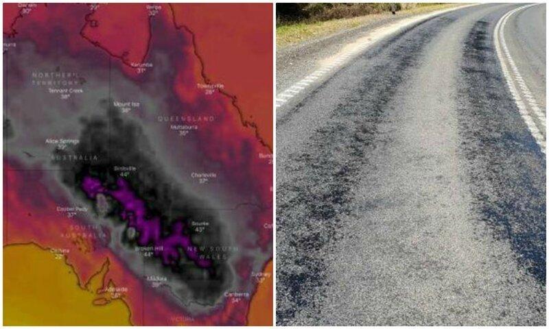Аномальная жара, накрывшая Австралию, расплавила дороги и убила животных австралия, атмосферные явления, жара, жарко, климат, погода, фото