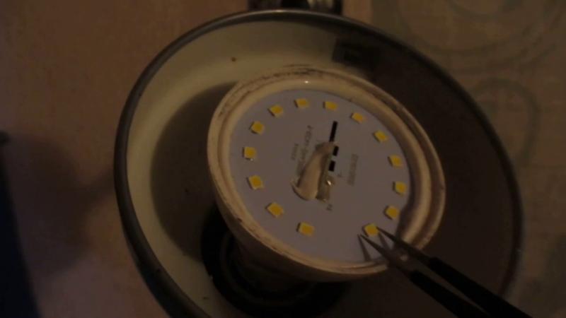 Вкручиваем в патрон и проверяем ещё раз лампа LED, ремонт, своими руками