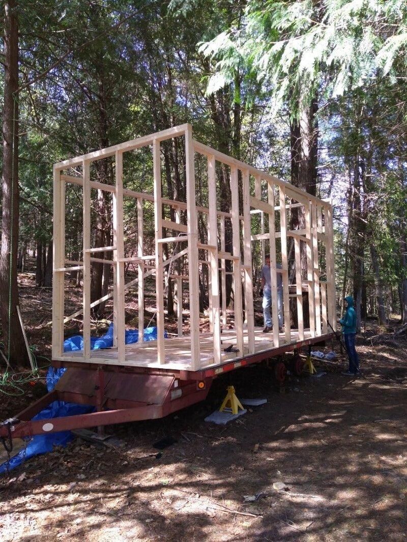 Деревянный каркас готов - ширина конструкции составила 2,6 метра до и после, жилье, идеи, инженер, ремонт, своими руками, строительство, фото