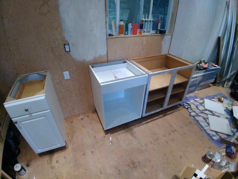 Сборка кухни для мини-дома до и после, жилье, идеи, инженер, ремонт, своими руками, строительство, фото