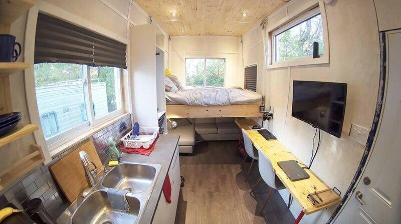 Дом на колесах внутри - общий вид до и после, жилье, идеи, инженер, ремонт, своими руками, строительство, фото