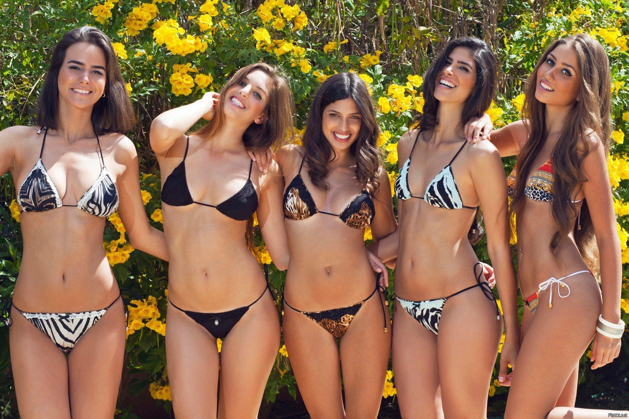 English girls in bikinis