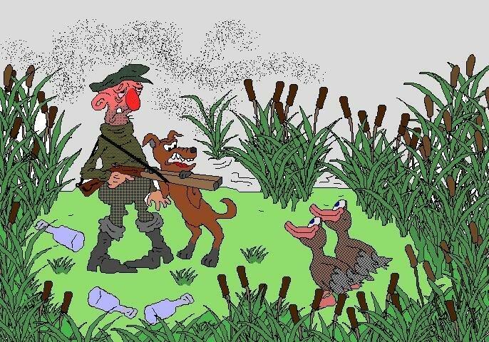 Душе, приколы про охотников в картинках